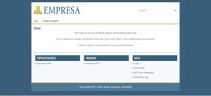 Um modelo de site objetivo!